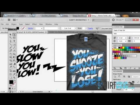 Using Fonts to make awesome T-Shirt designs..Illustrator CS5/6