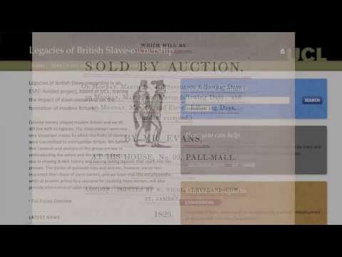 Catherine Hall: launching the encyclopaedia of British Slave-owners.mov