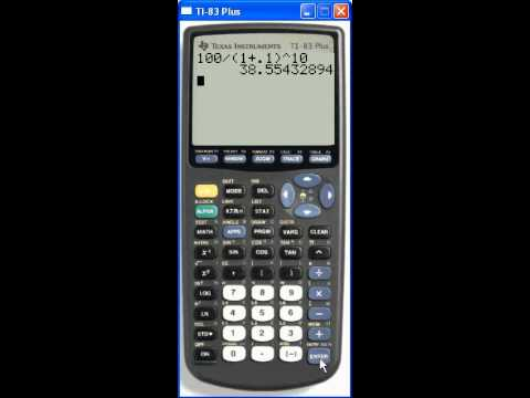 Calculating Present Value using your TI-83