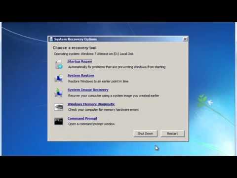 Repair Windows 7 Vista Startup Issues With BootRec.exe Tutorial