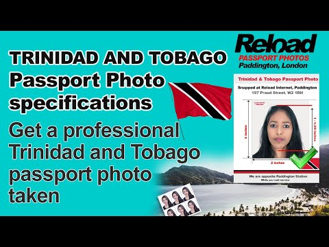 Trinidad Passport Photos & Trinidad and Tobago Visa Photos printed at Reload Internet in Paddington