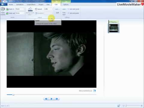 Windows Live Movie Maker Tutorial #9: Chipmunks Audio Speed Up Effect