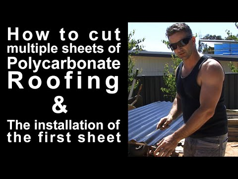 How to cut multiply sheets of Polycarbonate Roofin
