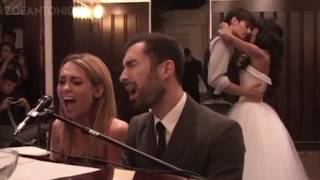 "Miley Cyrus sings ""When I Look At You"" at Best Friends Wedding!"