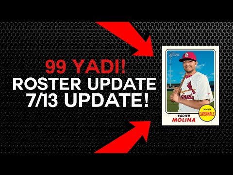 ROSTER UPDATE 7/13! 99 YADIER MOLINA! MLB The Show 17