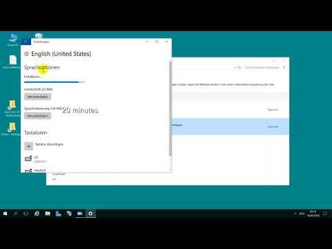 Change Language on Windows 10, Server 2016 from German to English