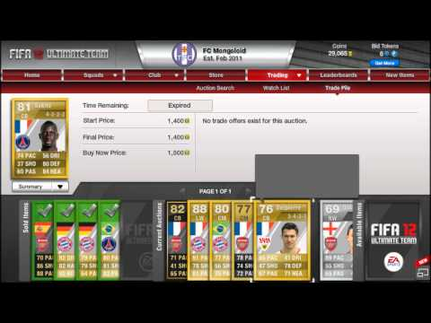 Fifa 12 Ultimate Team: Improving my squad - A change of plans!