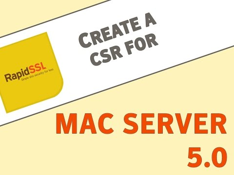 Generate a CSR on Mac Server 5.0 for OSX 10.10.5 and Above