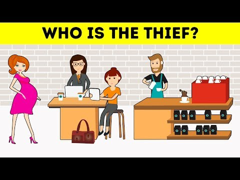 WHO IS THE THIEF? 16 DETECTIVE RIDDLES TO TEST YOUR ATTENTION AND LOGIC