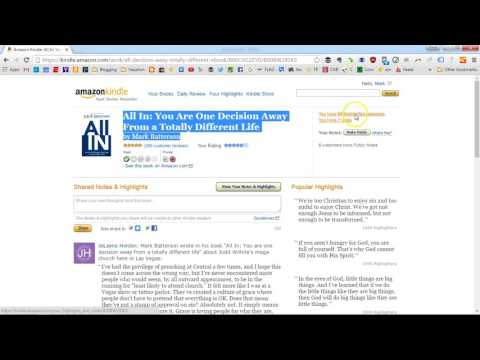 How To Transfer Kindle Book Highlights and Notes Into Microsoft Word In One Minute