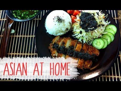 Chicken Katsu with Black Sesame Dressing