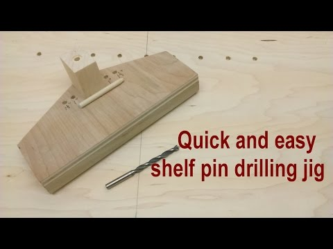 quick and easy shelf pin drilling jig