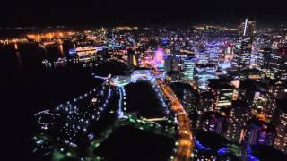 Night Cruise in YOKOHAMA 横浜の夜景をドローンで空撮