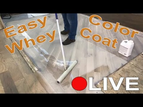 EasyWhey Color Coating LIVE Demo for Hardwood Flooring By City Floor Supply