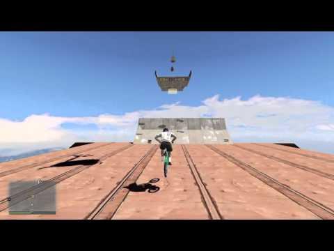 GTA5 BMX RACE: High jump B.M.X!