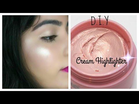 DIY Cream Highlighter   Make Your own Highlighter At Home   DIY Makeup Series