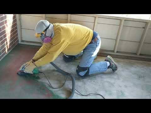 Removing Paint from Concrete with a Grinder