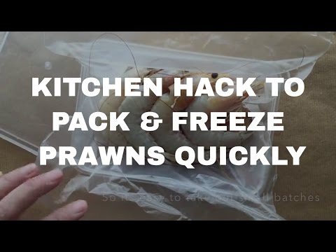 Kitchen Hacks - How to Freeze and Store Prawns Quickly!