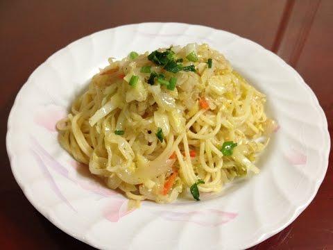 #282-1 spaghetti with cabbage - 양배추 스파게티