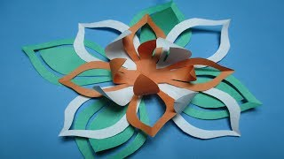 Paper crafts videos how to make simple easy pape how to make simple easy paper cutting flower mightylinksfo