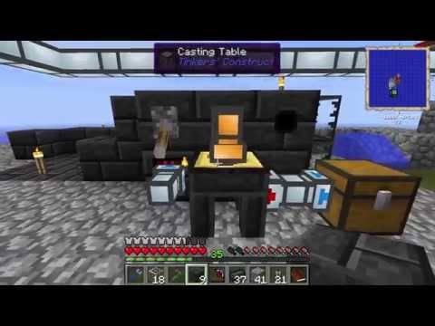 Agrarian Skies - Episode 64 - Double Automatic Tinkers Construct Smeltery with Tesseracts No Alloys