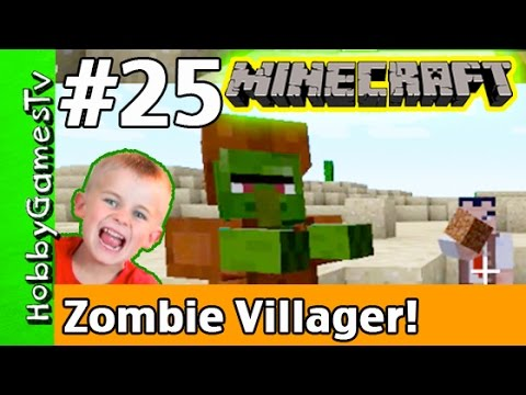 Minecraft Floyd #25 Zombie Villager! Xbox 360 Gameplay Hobbykids + Lego Floyd by HobbyGamesTV HD