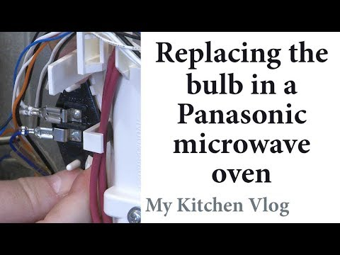 106 - Replace the bulb in a Panasonic microwave