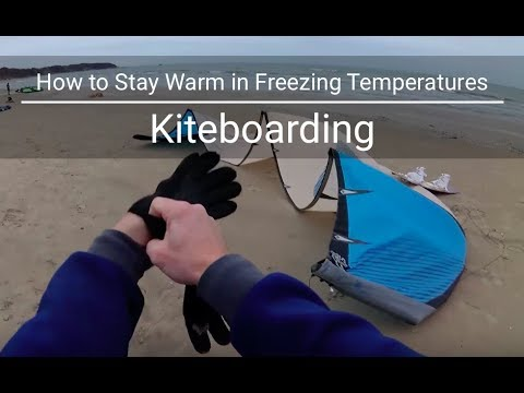 How to Stay Warm in Freezing Temperatures | Kiteboarding | HD YI4k