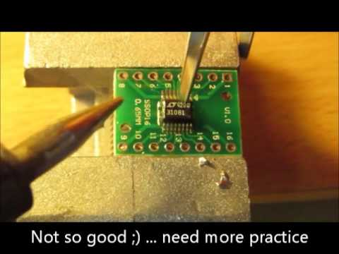 How to solder SMD component - LTC3108 chip