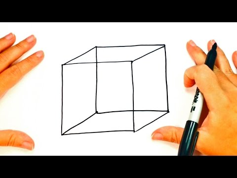 How to draw a Cube step by step | Cube Easy Draw Tutorial