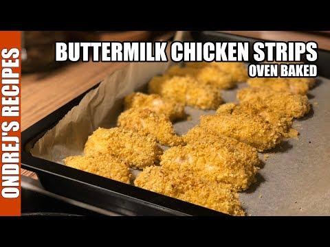 Oven Baked Buttermilk Chicken Strips