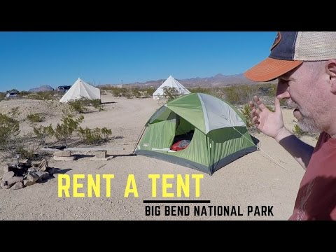 Airbnb Camping Rent a Tent Near Big Bend National Park