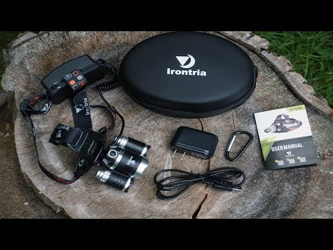 Irontria Headlamp Unboxing and Review