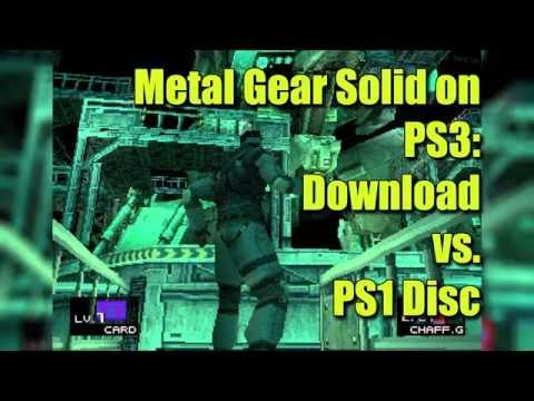 Metal Gear Solid Graphics Comparison: PSone Classics Download vs. Original PS1 Disc on PS3