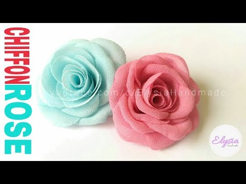 How To Make Fabric Flowers : Blooming Rose (Another version) | DIY by Elysia Handmade
