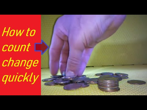 How to count change quickly