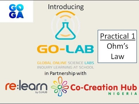Introducing Go-Lab Online Lab in Partnership with CcHUB Nigeria | Ohm's Law Practical 1