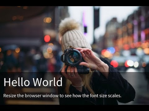 Responsive Text Over Image