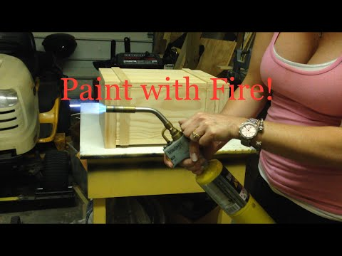 How to DIY Age or Distress Wooden Box with Blow Torch