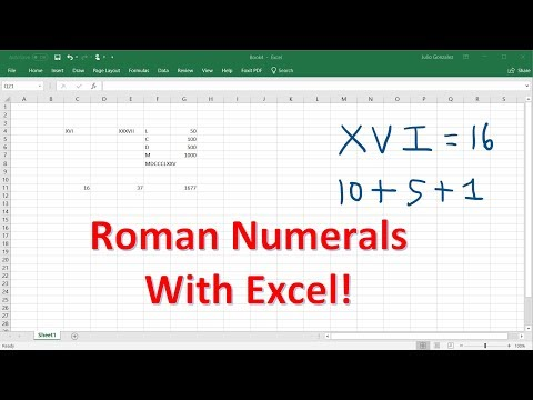 Excel Tutorial - Roman Numerals