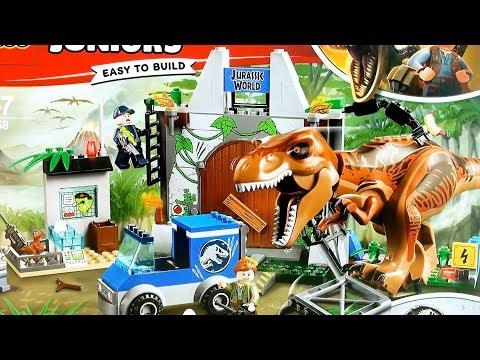 Jurassic World LEGO Juniors T-Rex Breakout 10758 - LEGO Fallen Kingdom Tyrannosaurus rex build