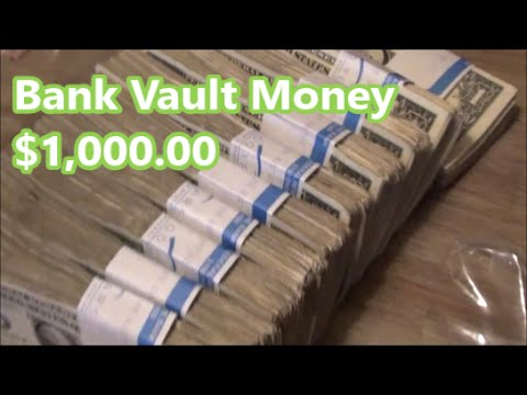 MONEY FROM THE BANK VAULT $1,000 in $1 BILLS WRAPPED in PLASTIC