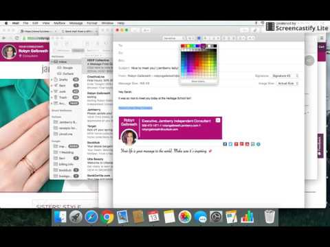 How to create canned responses (aka stationary) in MAC Mail