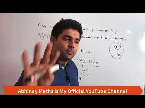 LCM Part - 2 By Abhinay Sharma (Abhinay Maths) 😲 SSC CGL Mains 2017 😲