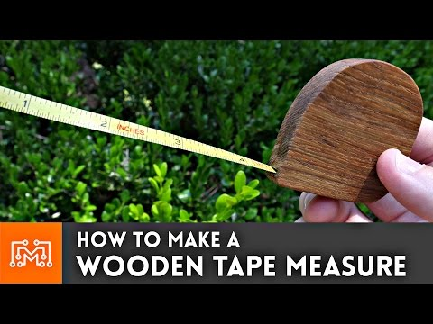 How to make a wooden tape measure