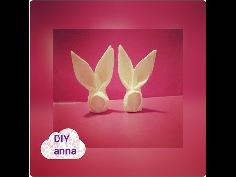 easter bunny: how to make a bunny out of a napkin DIY decoration ideas tutorial / URADI SAM