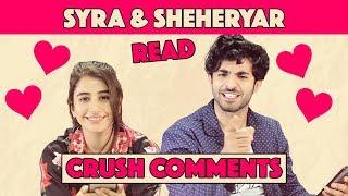 Syra Shehroz & Sheheryar Munawar Read Crush Comments   MangoBaaz