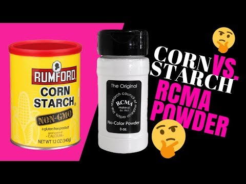 Cornstarch VS  RCMA Powder   BLURRED POURS & LASTED LONGER WITH MORE OIL CONTROL!!! WHO WON?!?