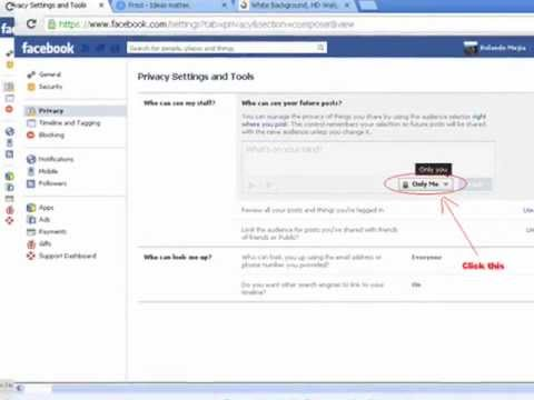 Make your facebook wall private