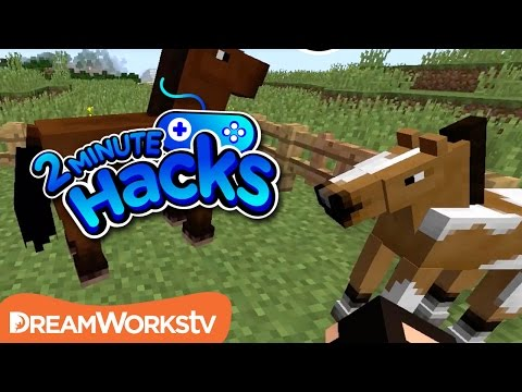 How to Tame a Horse in Minecraft | 2 MINUTE HACKS
